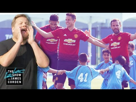 Manchester United vs James Corden & 100 Kids