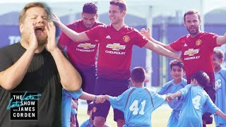 Download Manchester United vs. James Corden & 100 Kids Mp3 and Videos