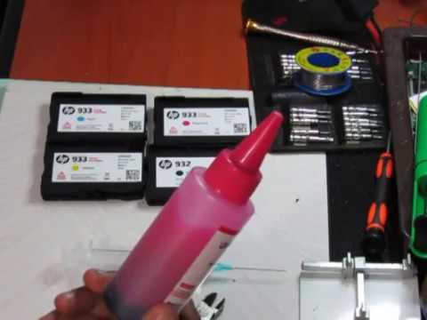 cara-isi-tinta-printer-hp-officejet-7612-cartridge-933-dan-932