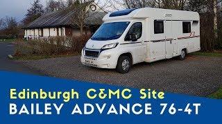 Edinburgh C&MC Site   Bailey Advance 76-4T   Bailey Motorhome City Tour