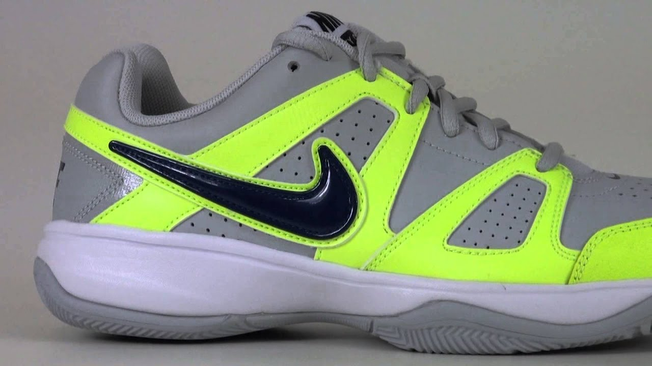 952642ff35 Tênis NIke City Court 7 Cinza e Verde - YouTube