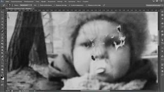 восстановление фото реставрация и удаление трещин в фотошопе