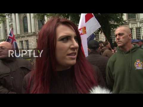 UK: Britain First and anti-fascist protesters face-off in Belfast rallies