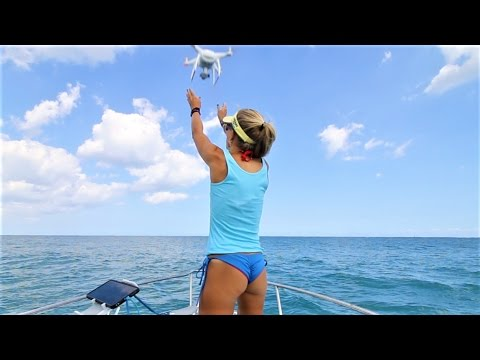 DRONE BLACKTIP SHARK HUNT! Florida Offshore Fishing Video