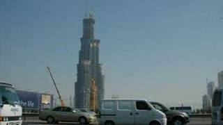 The Burj Dubai under construction