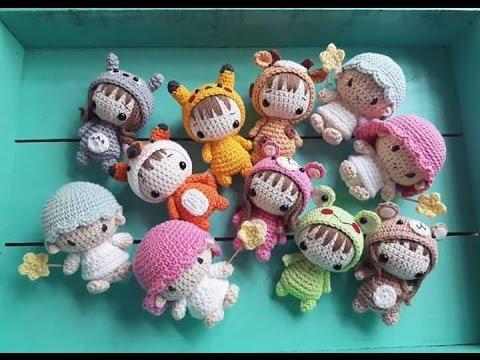Llaveros Amigurumis Animales : Llaveros en crochet tecnica amigurumi youtube