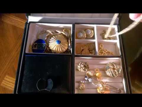 Vintage jewellery collection Christian Dior Chanel YSL Fendi Lanvin KJL and so much more part 1
