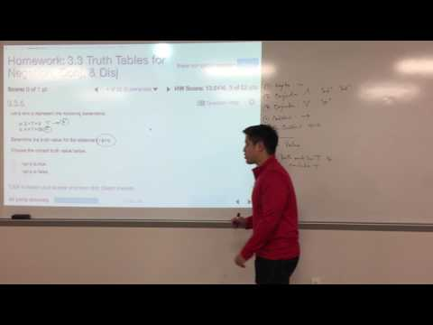 MATH 1332 - 3.3 - Truth Tables for Negation, Conjunction, and Disjunction