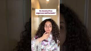 Easy curly & wavy hair routine with Ashba Botanics | No straightening, No keratin, No salon  #shorts