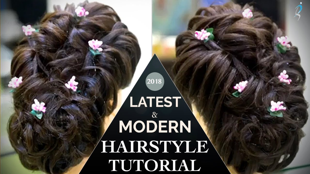 Modern Hairstyle Tutorials For Girls Easy Hair Updo Bun Step By