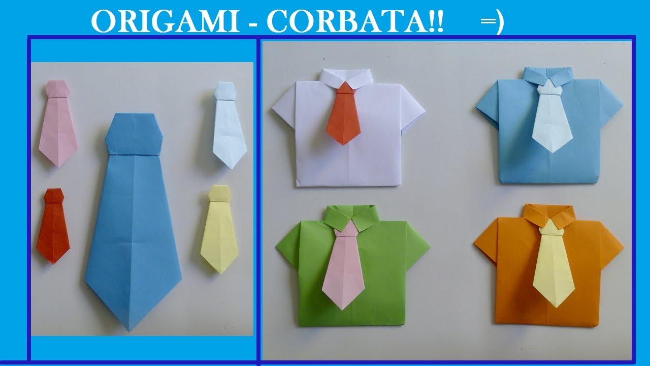 Cómo hacer una corbata de papel - Origami - YouTube