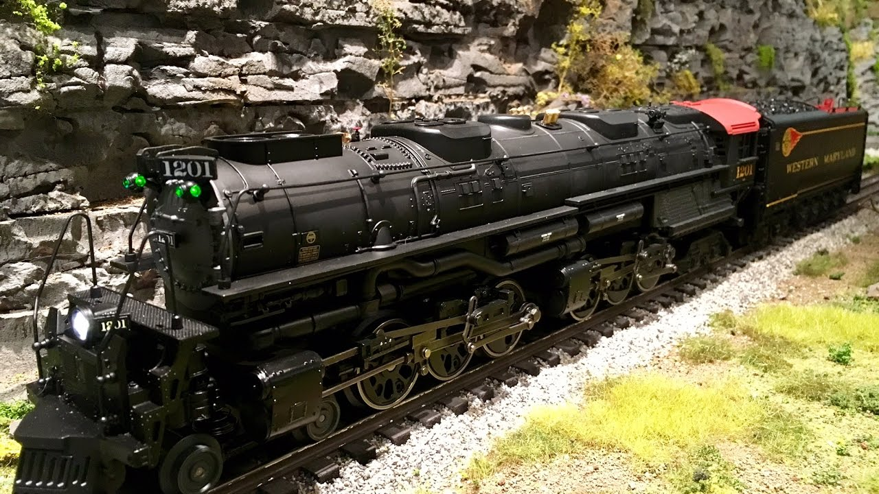 Lionel Legacy Lionmaster #1201 Western Maryland Challenger w/ whistle smoke 6-82698 - YouTube