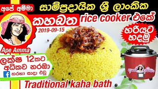 Rce cooker Yellow Rice by Apé Amma