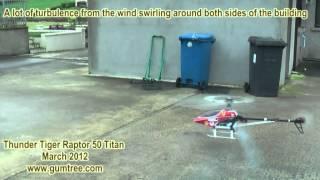 Thunder Tiger Raptor 50 Titan RC helicopter V2.mpg