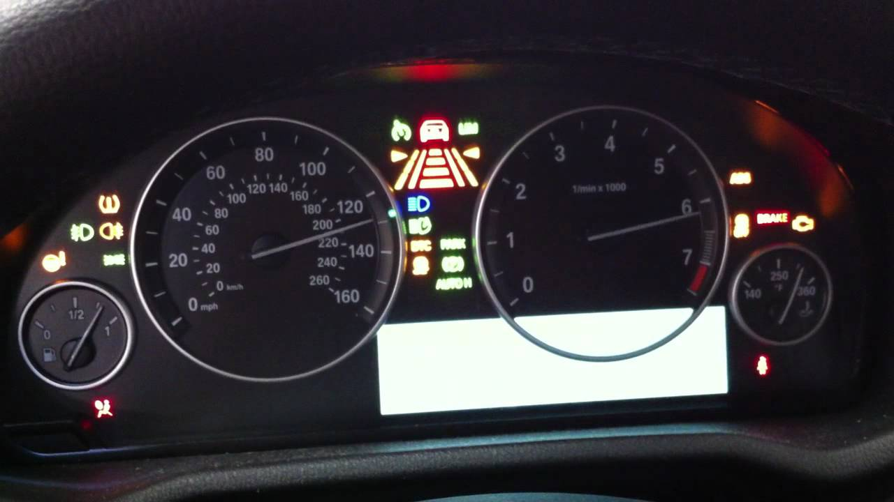 BMW X F Instrument Cluster Test YouTube - Bmw x3 dashboard signs