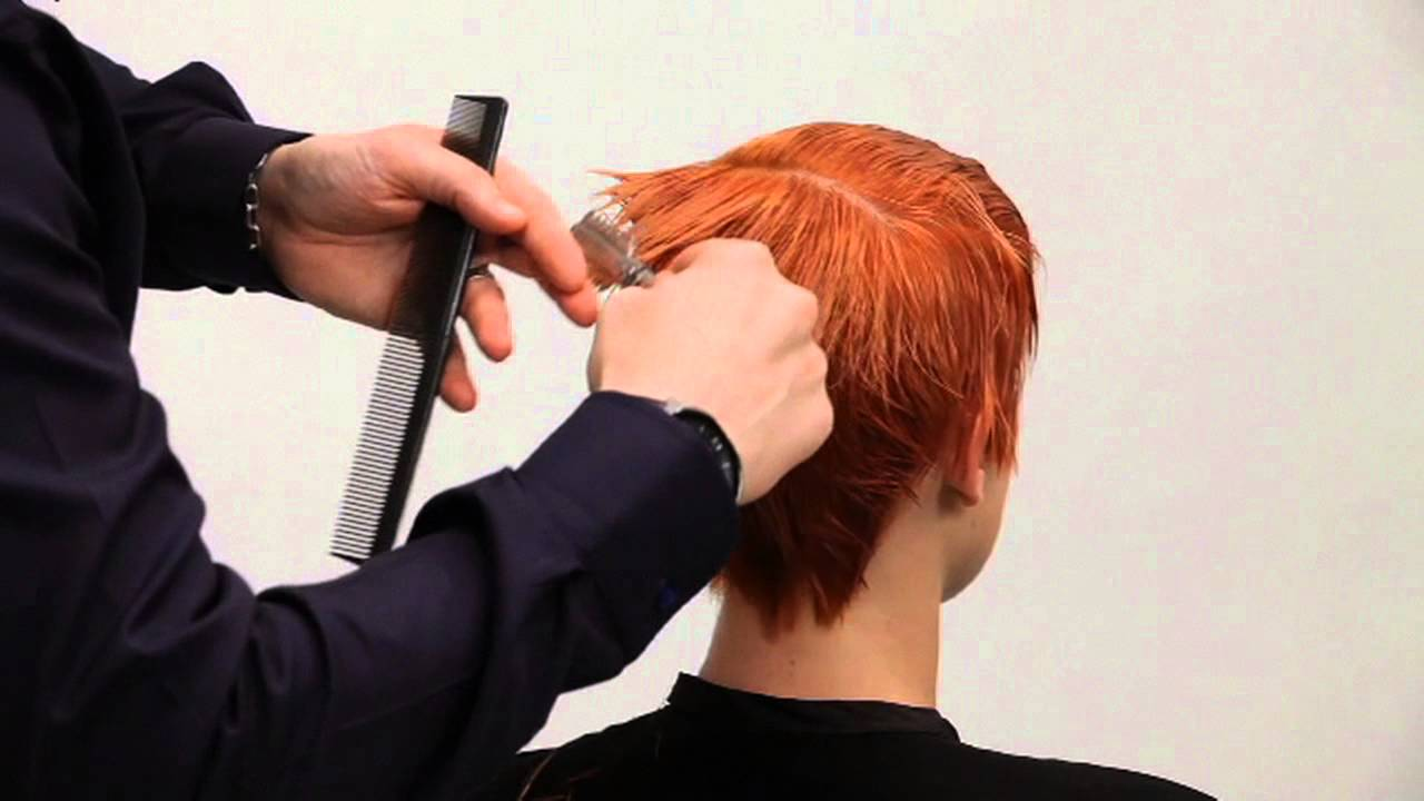 Full Length Pixie Haircut Tutorial Ariel Cut From The Toniguy