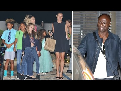 Heidi Klum And Seal Reunite For Dinner With Their Children