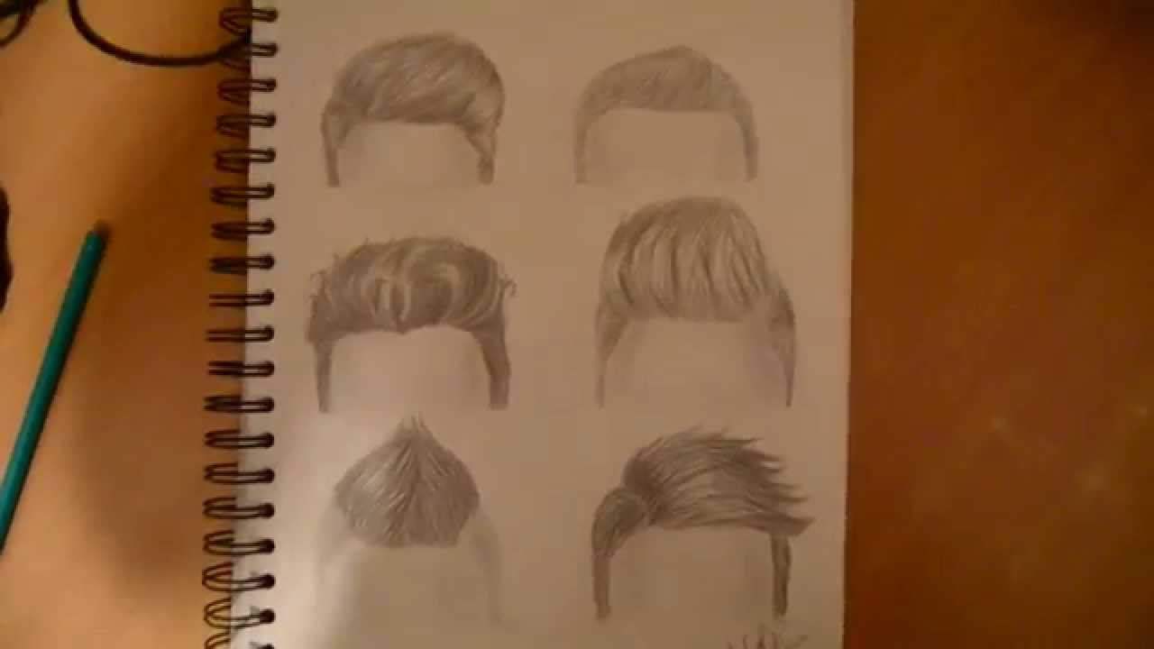 Drawing 6 boy hairstyles ▷by marryrdbsongs youtube