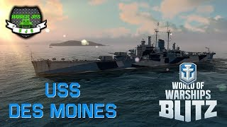 WOWS BLITZ - USS Des Moines - Tier X Tech Tree Cruiser