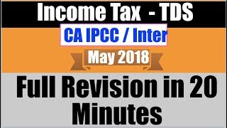 Income Tax Revision TDS in 20 Minutes   CA IPCC CA Inter May 2018