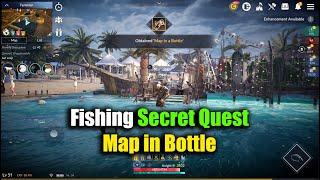 Black Desert Mobile Fishing Secret Quest Map in Bottle