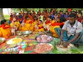 Primary School Kids Picnic - Hodgepodge & Chicken Curry Cooking By 5 to 10 Years Children Of Village