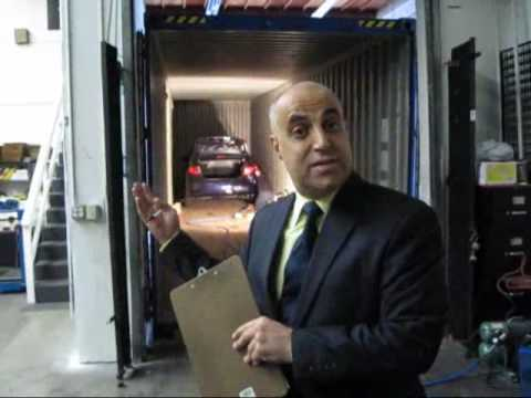 How to load car Into container - International Car Shipping
