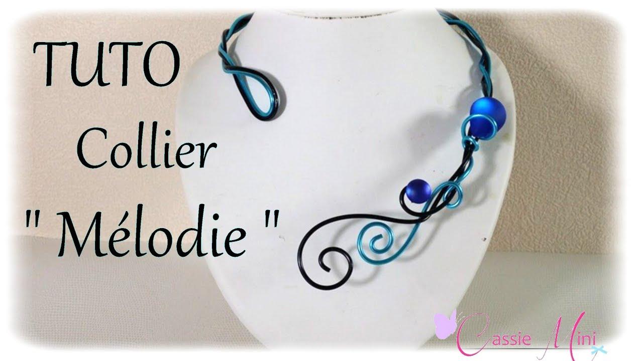 Tuto collier m lodie en fil aluminium youtube - Tuto bijoux pate fimo et fil aluminium ...