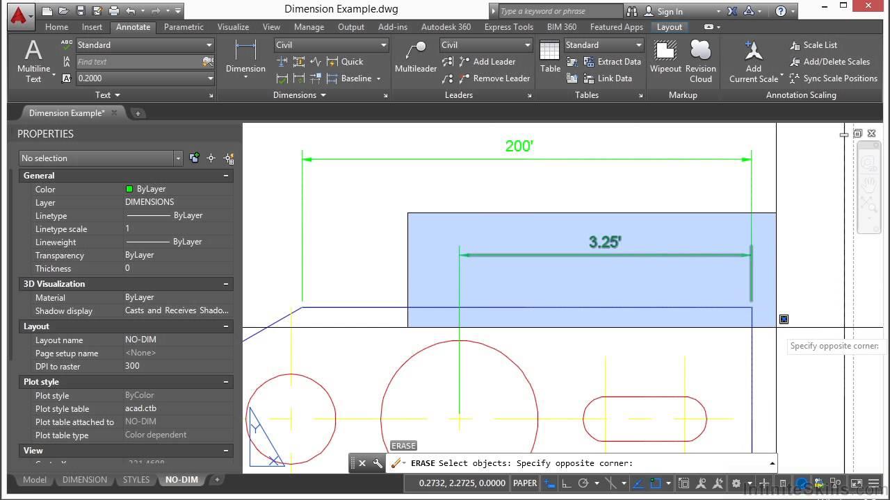 beginner autocad tutorial advanced dimensioning tools settings