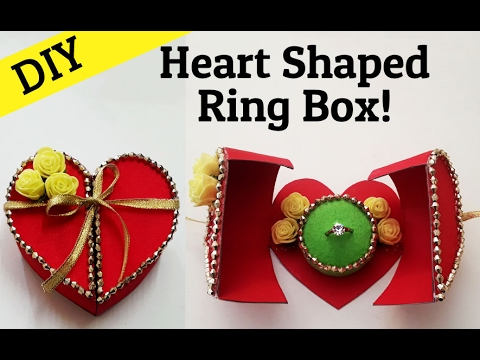 Diy heart box with surprise ring for valentines day for Heart ring box