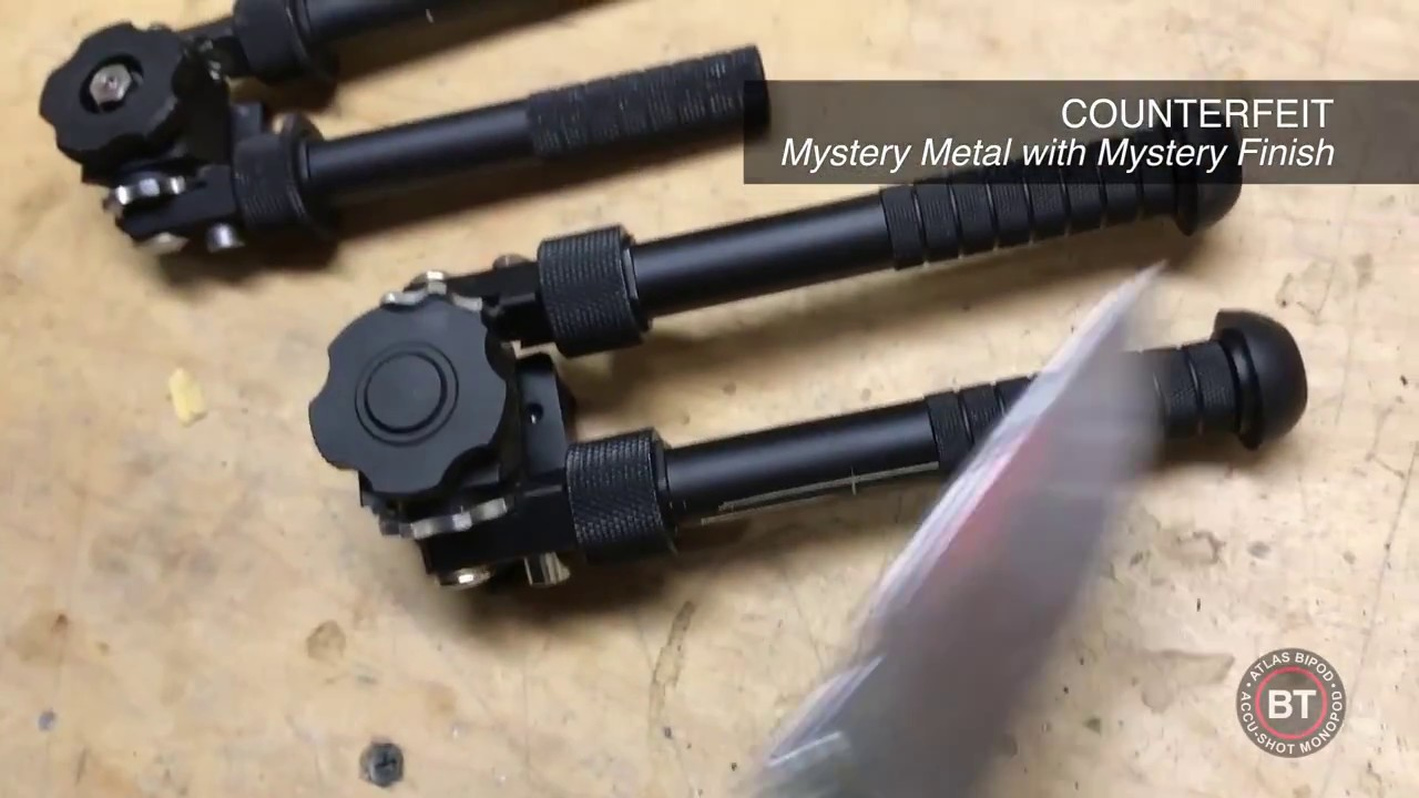 Episode 1 - Authentic Atlas Bipod vs  Counterfeit: material and finish