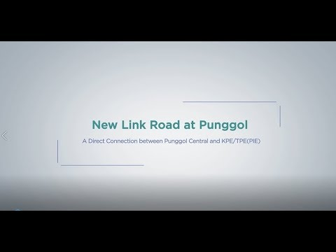 Travel route from Punggol Central to KPE(ECP) and TPE(PIE) via the new link road