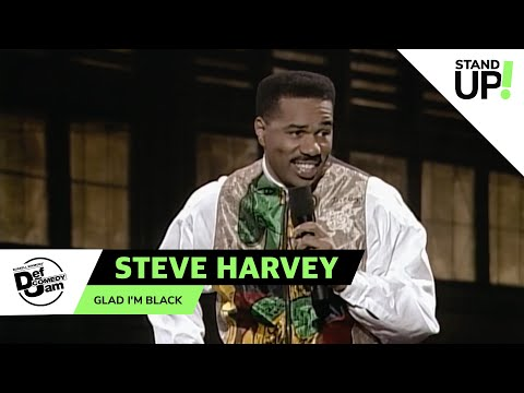 Steve Harvey: You're Damn Right I'm Black   Def Comedy Jam   Laugh Out Loud Network