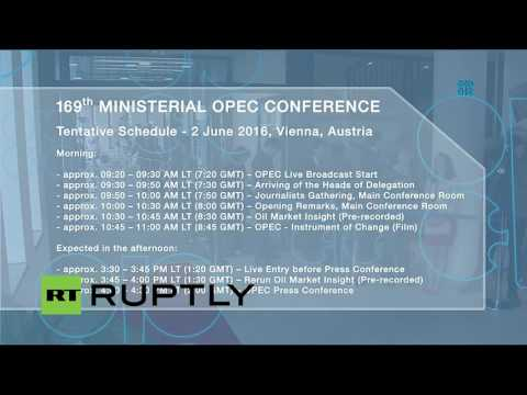 OPEC holds 169th Ordinary Meeting in Vienna: opening session