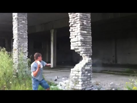 Jake Dill - Guy Makes Building Collapse by Taking Out Pillar