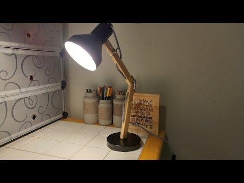 Tomons Wood Swing Arm Desk Lamp, Designer Table Lamp,