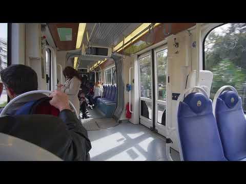 Greece, Athens, Irinis & Filias Stadium, ride with tram A2 to Asklipiio Voulas