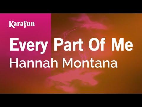 Karaoke Every Part Of Me - Hannah Montana *