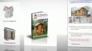 Build An Outdoor Playhouse - 2-story Playhouse Plans