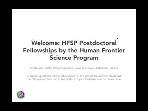 eLife Webinar: HFSP Postdoctoral Fellowships by Human Frontier Science Program