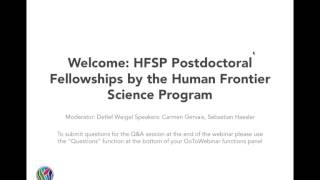 eLife Webinar: HFSP Postdoctoral Fellowships by Human Frontier Science Program