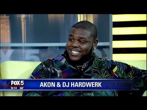 Singer Akon and DJ HardWerk