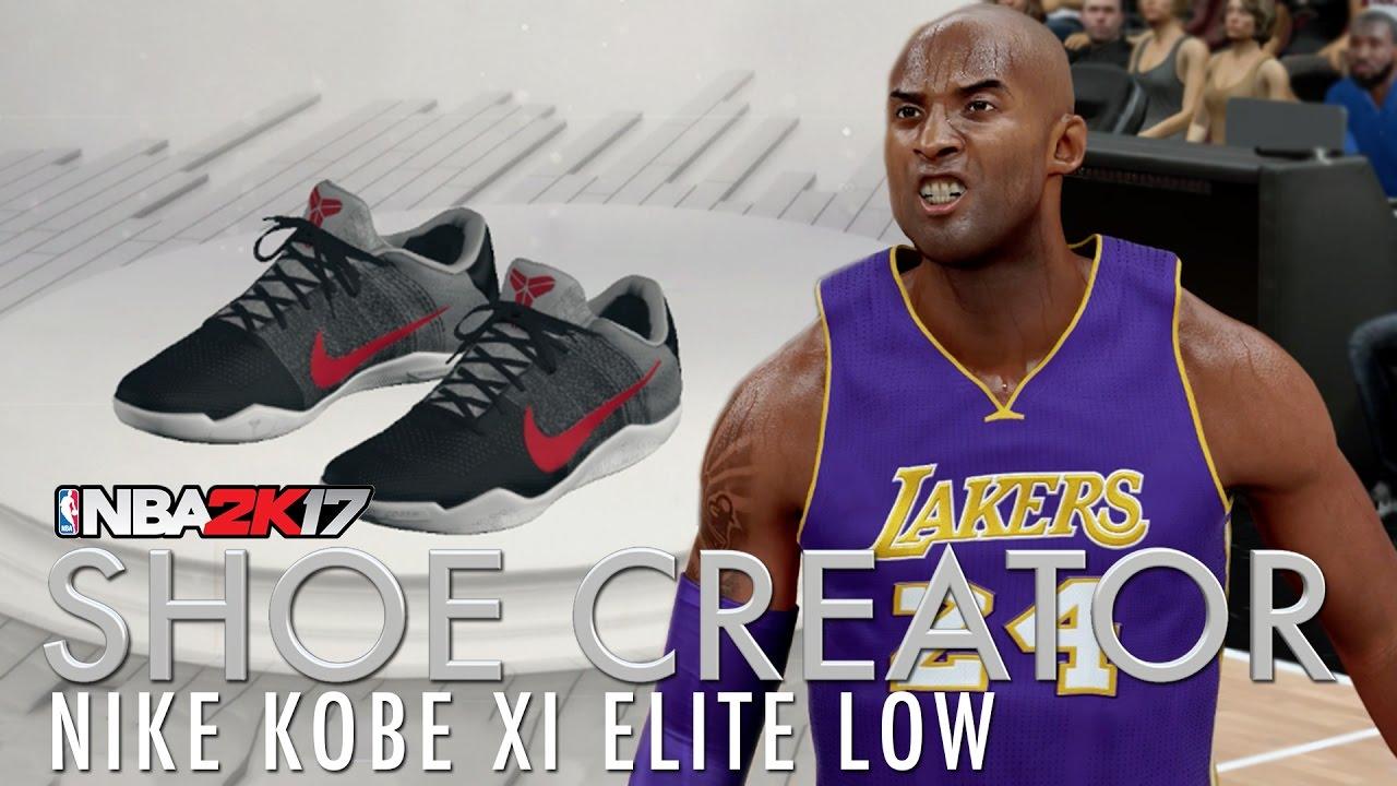 e2ea069e4175 NBA 2K17 Shoe Creator  Kobe XI Elite Low Collection - YouTube