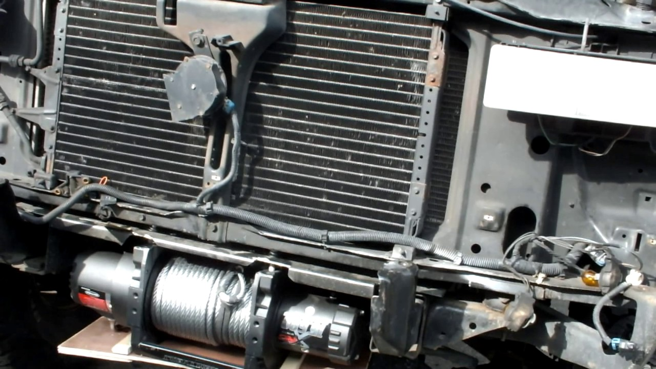 Hidden Winch install on 1997 Chevy Suburban K1500 - YouTube