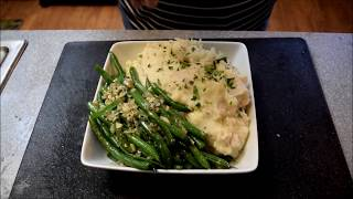Garlic Mashed Potatoes, Sauteed Green Beans - Cooking with Soul