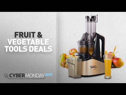 Top Cyber Monday Fruit & Vegetable Tools Deals: SKG Slow Masticating Juicer Extractor with Wide