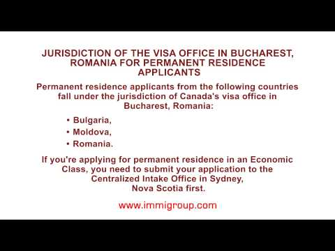 Jurisdiction of the visa office in Bucharest, Romania for permanent residence applicants