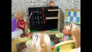 Вместо учителя. Кому пятерок? Мультики про школу. #Барби школа куклы мультики