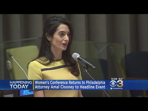 Attorney Amal Clooney To Headline Women's Conference In Philadelphia