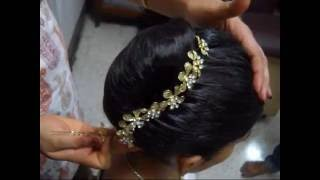 Hair style : French Roll with decoration